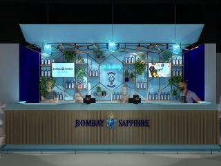 Bombay Sapphire Branded Bar